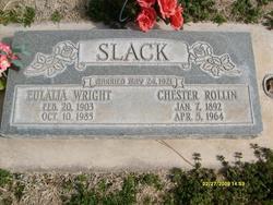 Eulalia <I>Wright</I> Slack