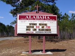 Alabaha Freewill Baptist Church Cemetery