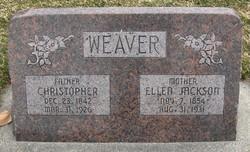 Ellen <I>Jackson</I> Weaver
