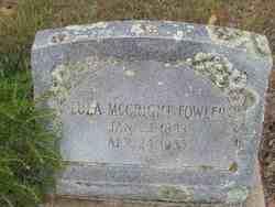 Lula Mae <I>McCright</I> Fowler
