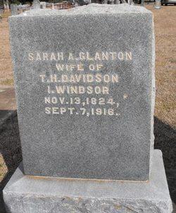 Sarah A. <I>Glanton</I> Davidson Windsor