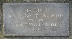 "Harriet Elizabeth ""Hattie"" <I>Morgan</I> Aichele"