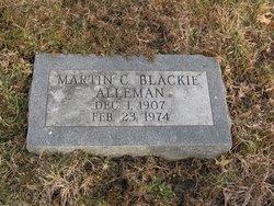 Martin C Blackie Alleman