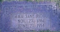 Emma Jane <I>Stevens</I> Riddle