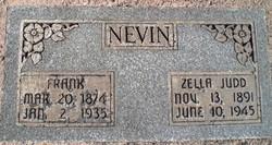 Zella <I>Judd</I> Nevin