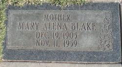Mary Alena <I>Fowler</I> Blake