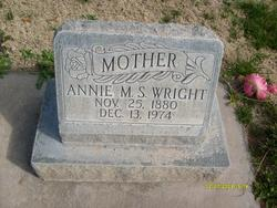 Annie Mary <I>Spendlove</I> Wright