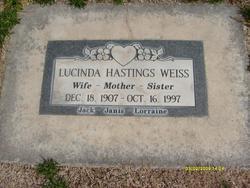 Lucinda <I>Hastings</I> Weiss