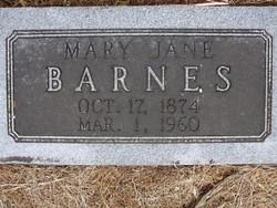 Mary Jane <I>Moore</I> Barnes