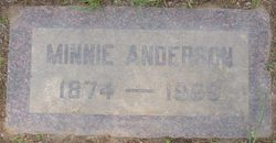Minnie Brooks <I>Holliday</I> Anderson