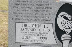 "Dr John Henrik ""GOD"" Clarke"