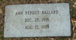 Ann <I>Perdue</I> Ballard
