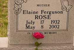 Elaine <I>Ferguson</I> Rose