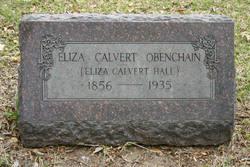 "Eliza Caroline ""Lida"" <I>Calvert</I> Obenchain"