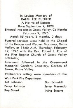 Ralph Lee Buehler