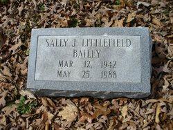 Sally J <I>Littlefield</I> Bailey