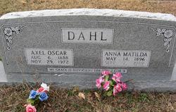 Anna Matilda <I>Christenson</I> Dahl