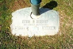 Ettie <I>P.</I> Hendry