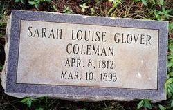 Sarah Louise <I>Glover</I> Coleman
