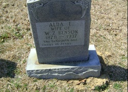 Alda E. <I>Johnson</I> Benson
