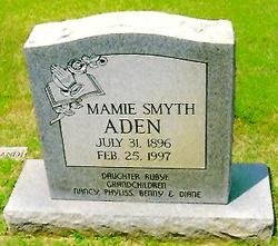 Mamie B <I>Smyth</I> Aden