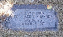 Col Jack T Shannon