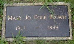 Mary Jo <I>Cole</I> Brown