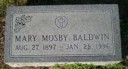 Mary <I>Mosby</I> Baldwin