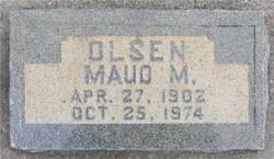 Maud <I>Miller</I> Olsen