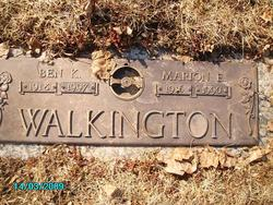 Marion Elizabeth <I>Andersen</I> Walkington