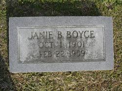 Janie Elizabeth <I>Byrum</I> Boyce