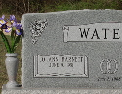 Jo Ann <I>Barnett</I> Waters