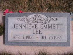 Jennieve <I>Emmett</I> Lee