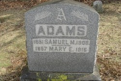 Mary Emma <I>Elliston</I> Adams