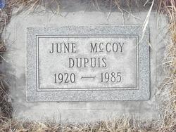 June Evelyn <I>McCoy</I> Dupuis
