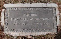 Hannah Wilhelmina <I>Peterson</I> Jensen