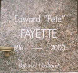 Edward Pete Albert Fayette