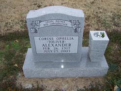 Corine Ophelia <I>Toliver</I> Alexander
