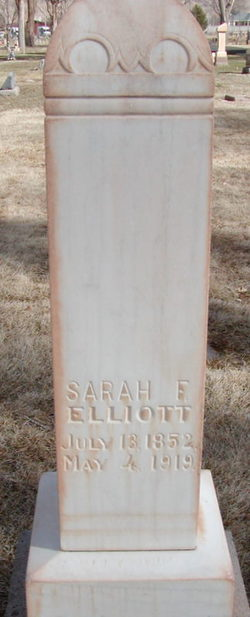 Sarah <I>Frazier</I> Elliott