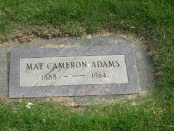 "Mary ""May"" <I>Cameron</I> Adams"