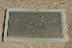 Mary H Simmons