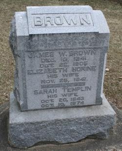 Sarah <I>Templin</I> Brown