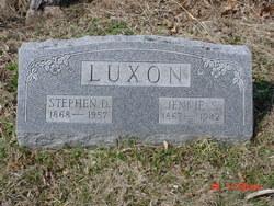 Jennie S. <I>Sprague</I> Luxon