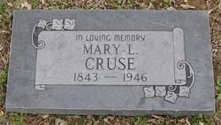 Mary Letitia <I>Hancock</I> Cruse