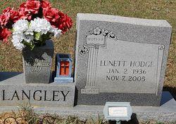 Lunette <I>Hodge</I> Langley