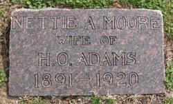 Nettie A. <I>Moore</I> Adams