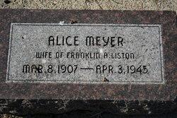Alice <I>Meyer</I> Liston