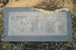 Mary Alberta <I>James</I> Bethany