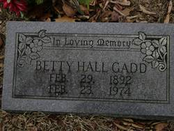 Betty <I>Hall</I> Gadd
