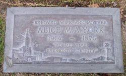 """Alice Mary Ann """"Allie"""" <I>Larson</I> York"""